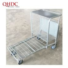 Supermarket Warehouse Trolley Flat Cart With Four Wheels