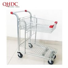 Zinc Plated Material And Shopping Usage Metal Trolley Supermarket Cart
