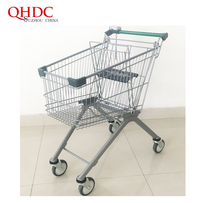 88 Liter Trolley Supermarket Shopping Cart With Baby Seat