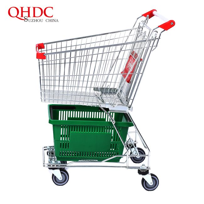 60 Liter Trolley Small Shopping Carts For Retail Stores