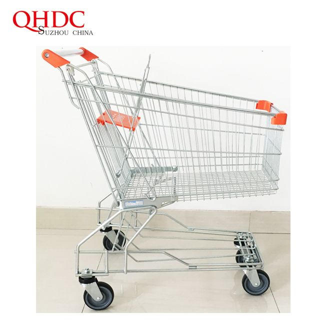 Metal Supermarket Shopping Trolley Cart With Factory Price For Sale